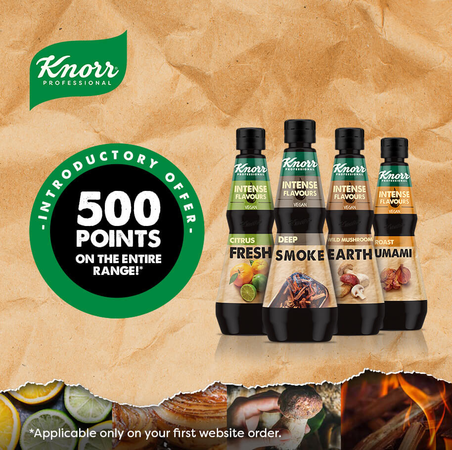 Get 500 points on the new knorr intense flavours